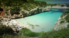 Amazing mediterranean beach Stock Footage