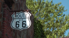 Stock Video Footage of Route 66 Sign