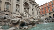 Stock Video Footage of Rome Trevi Fountain side P HD 0537