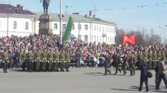 PETROZAVODSK, RUSSIA -MAY 09: Victory Day celebration in the capital of Karelia Stock Footage