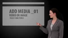 Woman snapping her finger to introduce animated video - stock after effects
