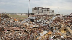 Joplin Hospital after Tornado - stock footage