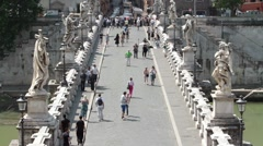 Rome Bridge of Angels siren P HD 8867 Stock Footage