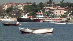 Boats at Tuzla Marina bay mute Stock Footage