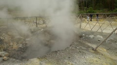 Smoke from a hot spring Stock Footage