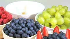 Montage of Healthy Lifestyle Fresh Fruit Medley Stock Footage