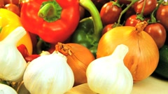 Montage Collection of Fresh Vegetable Preparation Stock Footage
