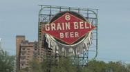 Grain Belt Billboard Stock Footage