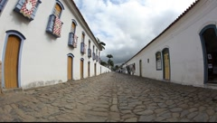 Street in Paraty, Brazil, FULL HD 1080P - stock footage