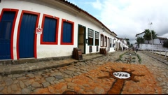 Tapestry of Corpus Christi in Paraty, Brazil, FULL HD 1080P - stock footage