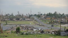 Tornado ravaged neighborhood - stock footage
