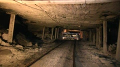 Coal Mine Equipment Underground in Use (HD) c Stock Footage