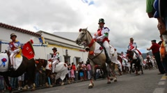 Saint Peter festival horse parade Stock Footage