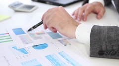 Calculating business  finance - stock footage