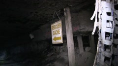 Rescuer Cache in Coal Mine  (HD) c - stock footage