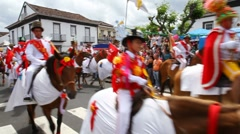 São Pedro festival horse parade Stock Footage