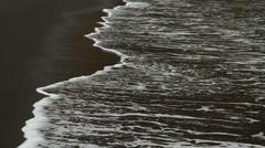 Mosteiros black lava sand beach Stock Footage