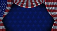 Stock Video Footage of USA Flag Curtain Background Animation Loop With Alpha
