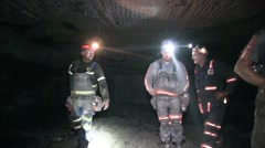 Coal Miners Underground in Mine  (HD) c - stock footage