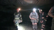 Stock Video Footage of Coal Miners Underground in Mine  (HD) c