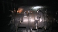 Coal Mine Machinery Equipment Underground  (HD) c Stock Footage
