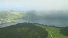Panoramic view of Sete Cidades valley Stock Footage
