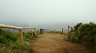Walking to an Azorean viewpoint Stock Footage