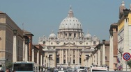 Stock Video Footage of Vatican St Peters traffic P HD 8861
