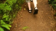 Walking on a path Stock Footage