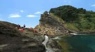 Stock Video Footage of Vila Franca do Campo islet pan