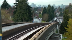 Vancouver Skytrain Stock Footage