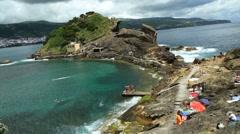 Vila Franca do Campo islet - stock footage