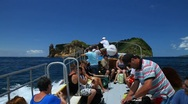 Going to Vila Franca do Campo islet Stock Footage