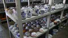 Ceramica Vieira pottery factory Stock Footage