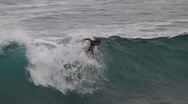 Surfer falling Stock Footage