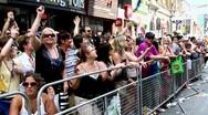Pride parade in Toronto, Ontario, Canada Stock Footage