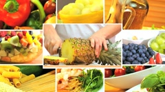 Montage of Healthy Lifestyle Meal Choices - stock footage