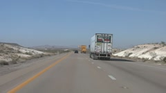 Passing Trucks on I-15 Stock Footage