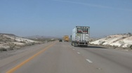 Stock Video Footage of Passing Trucks on I-15