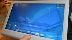 Using a large touchscreen Stock Footage