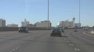 Driving South on I-15 heading into Las Vegas Stock Footage