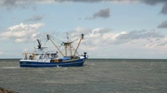 Fishing Trawler Stock Footage
