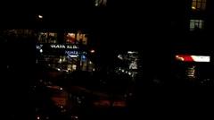 Dark Night street Stock Footage