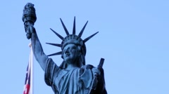 Stock Footage- Statue of Liberty with American Flag - Cool Coloring Stock Footage