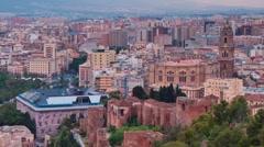 Malaga at Dawn V3 Stock Footage