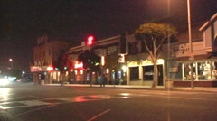 Main Street Seal Beach, CA at Night Stock Footage