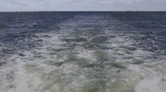 Back sea waves - stock footage