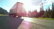 Stock Video Footage of Highway truck traffic