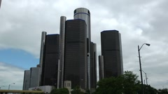Renaissance Center Detroit zoom Arkistovideo