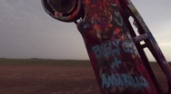 Cadillac Ranch Stock Footage